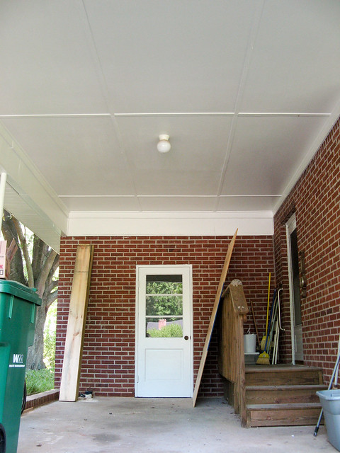 the columns and underside of the porch and carport have been repainted  seriously  what a difference