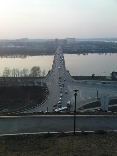 Канавинский мост, река Ока. Нижний Новгород
