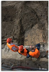 Historic Digging,Groningen stad,the Netherlands,Europe. (Aheroy(2Busy)) Tags: city holland art netherlands dutch architecture fun town europe colours different arts nederland surreal hallucination groningen stad beautifull historie archeologie aheroy aheroyal historicdigging