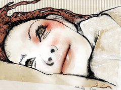 the morning after (vinciane.c) Tags: life morning light smile bed skin desire plaisure photoshopdigitalpaintingwacomcintiqhugowaterunderwaterbreathetearspoetrydrawingsketch