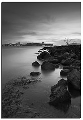 """As the ocean is never full of water, so is the heart never full of love"" (Nora Carol) Tags: blackandwhite reflection beach rock dusk kotakinabalu sabah malaysianphotographer likas sulusea tanjunglipat noracarol sonyalpha200 sabahsunset sabahanphotographer landscapephotographerfromsabah womanlandscapephotographer womaninphotography"