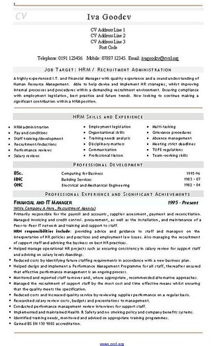 recruitment consultant resume