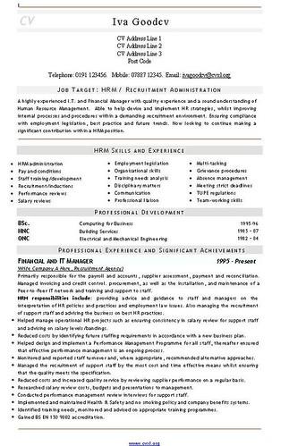 Senior recruitment consultant cv template consulting resume.