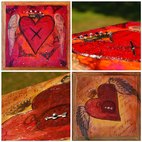 """Hearts of Fire - Mixed Media Imagery"" Class"