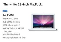"""MacBook 13"""" white USA May 2009"""
