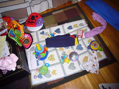 This is what the living room looks like after Early Intervention appts