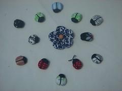 Joaninhas (Minhas Crias) Tags: flor artesanato mini borboleta fuxico joaninha tecido miniaturas trabalhosmanuais retalhos fuxicaria