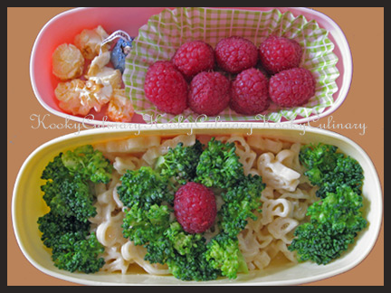 Bento #72 - Mac n Raspberries