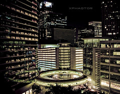Night is a world lit by itself -Antonio Porchia- (xphaqtor) Tags: nightphotography downtown tx houston utata chevron enron houstonist skyring lenshouston kindacommercial