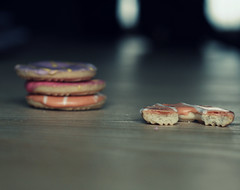 I Think The Party Ring Monster Has Been About (jaydesphotos) Tags: party 50mm yum rings biscuits diet halfeaten partyrings coolours hbw naughtyfoods nniftyfifty