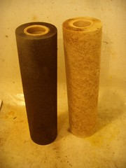 Whole-house water filters with manganese (?) and iron (rust)