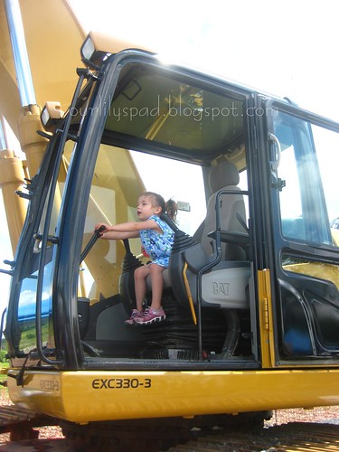 Driving the excavator
