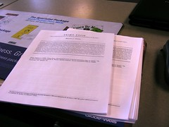 What I testified about: At Kinkos with a couple of the copies of the Prima Facie component of Identity Reports, which I later gave to members of the Assembly