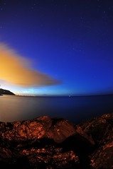 Greystones (shaymurphy) Tags: ocean ireland sea sky howth dublin irish colour water night clouds dark stars star rocks long exposure colours head greystones wicklow trial bray