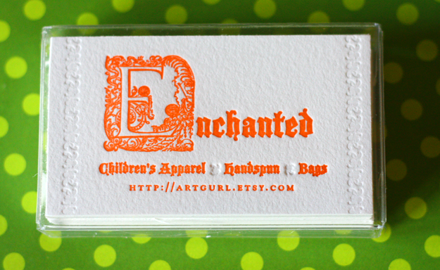 Enchanted Letterpress Business Cards