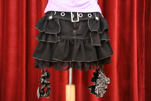 Frill Mini-skirt with Garter Belt by Algonquins