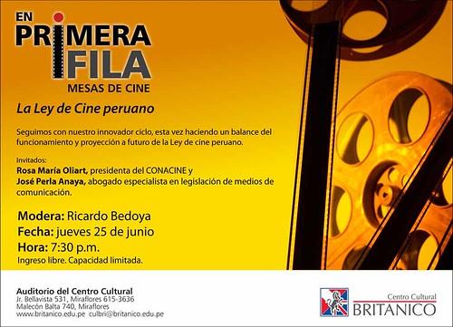 En primera fila: Discutiendo la ley de cine peruano