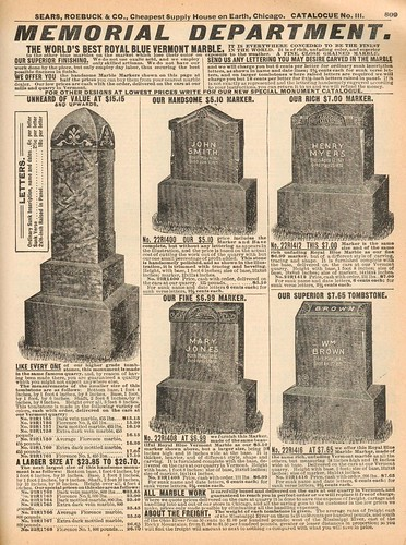 Sears Roebuck Tombstones