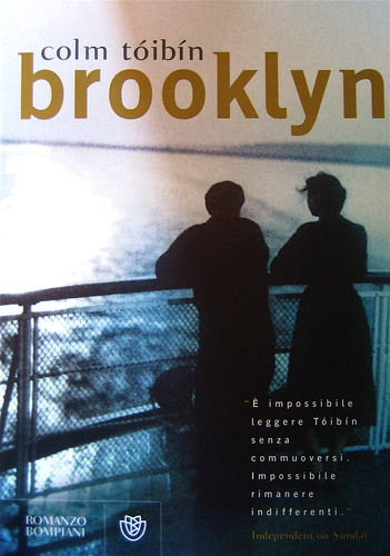 Colm Tóibín, Brooklyn, Bompiani 2009; Progetto grafico di Polystudio; alla copertina: ill. fotog.: Couple Watching the Moonlight on river boat on Volga River, by Howard Sochurek, ©Getty Images (part.)
