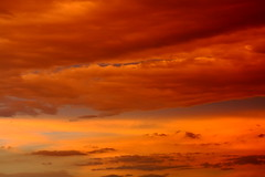 Sunset and Clouds - A Heavenly Canvas (p.csizmadia) Tags: sunset ohio orange color clouds skies lakeerie oh brilliant fiery tapestry lorain csizmadia pcsizmadia