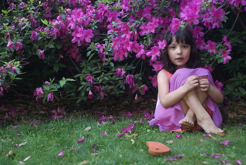 Abby and the azaleas