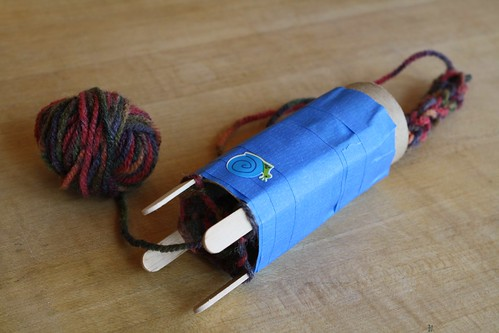 Homemade Knitting Tower