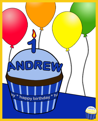 Andrew's 1st Birthday Cupcake
