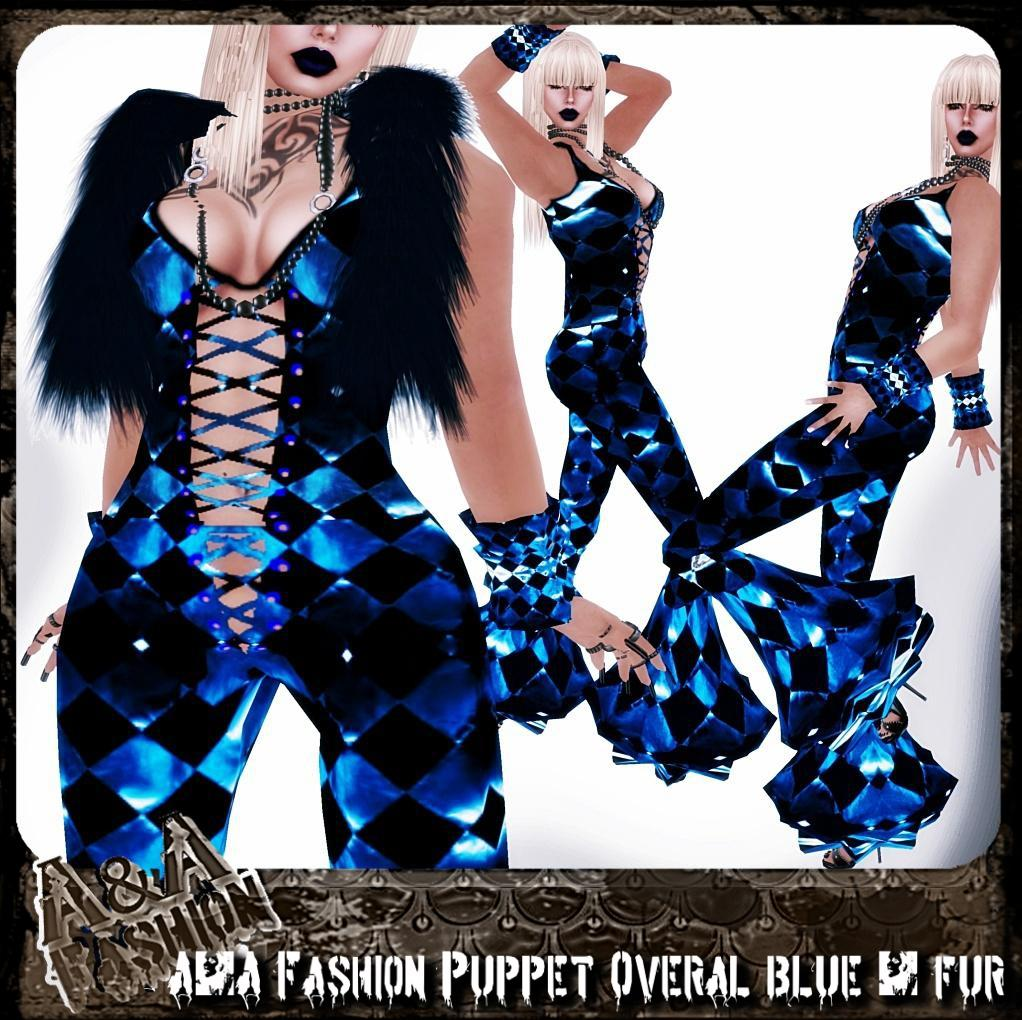 A&A Fasion Puppet Overal blue