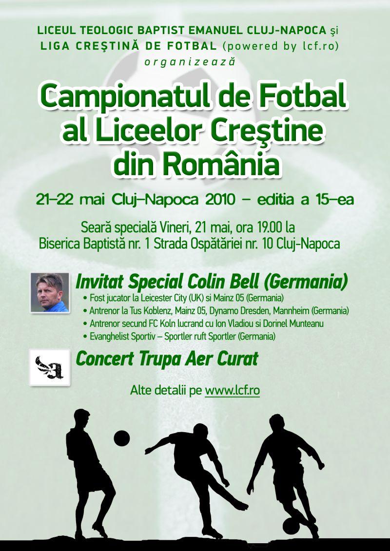 Campionatul de fotbal al liceelor crestine din Romania lcf.ro