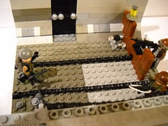 The Magical U-Clip Traintracks (Purple Gorrilla) Tags: lego brickarms uclips