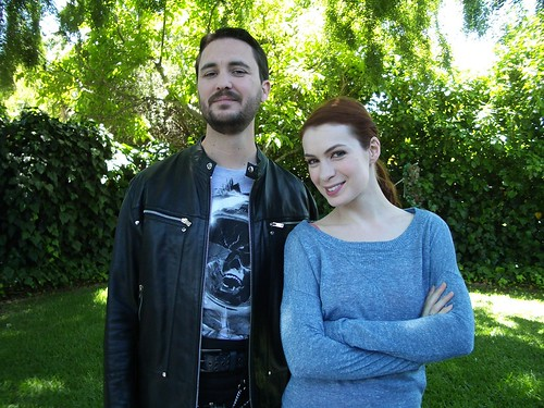 Wil Wheaton and Felicia Day as Fawkes and Codex