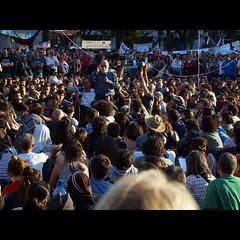 Acampada Plaa Catalunya. Arcadi Oliveres (Vicnaba) Tags: barcelona street 50mm calle f14 olympus protesta mf speech manualfocus cy carrer 15m acampada plaacatalunya discurso spanishrevolution yashicaml discurs e620 indignados cy43adapter arcadioliveres democraciareal acampadabcn catalanrevolution indignats
