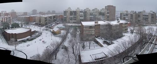 Nieva en Moratalaz