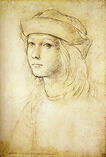 1502  Raphael    Self-Portrait  Black chlk  Oxford, The Ashmolean Museum