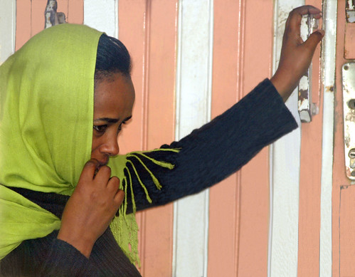Mujer abeshá (Addis Abeba, Etiopía)