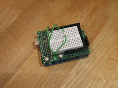 Arduino and ProtoShield together