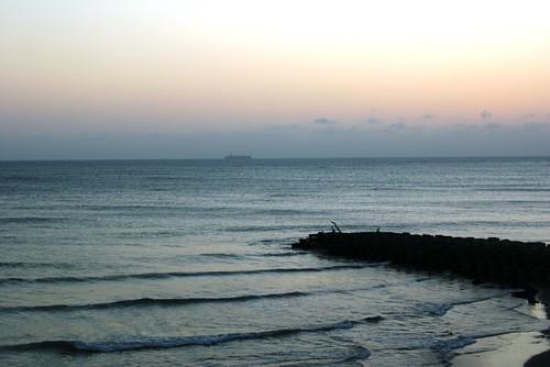 到七股潟湖看夕陽吹海風-三十而慄