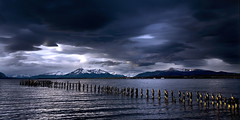 The Wild Blue Yonder (Rod Monkey) Tags: chile blue sea sky patagonia seascape southamerica water clouds landscape puertonatales aplusphoto citrit littlestoriespicswithsoul ltimaesperanzasound