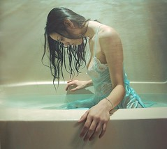 rays (PaytonGuerra) Tags: selfportrait me wet water self hair bath dress under fave sp tub views bathtub rays 500views lookingdown bathing 1000 wethair aod 100comments abigfave trashthedress