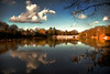 .... there be dragons ....  [Explore Front Page] (Chris Beesley) Tags: blue trees winter cloud white lake cold colour reflection tree water clouds reflections landscape interestingness interesting warrington dragon searchthebest cheshire pentax dam 8 super front explore page reflexions frontpage lymm pentaxda1645mm explored k100d pentaxk100dsuper k100dsuper vosplusbellesphotos