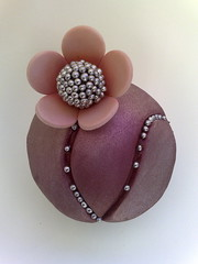 Little Gem (SmallThingsIced) Tags: flower blossom cupcake bloom bling gem dragees silverlustre