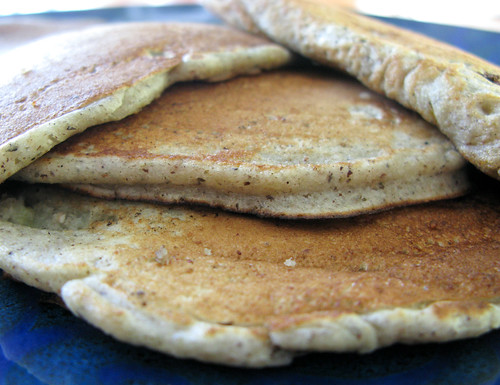 fluffy banana buckwheat pancakes