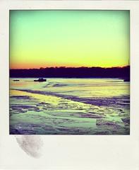 Chilly harbor (D.P. Rubino) Tags: winter sunset newyork cold ice water boats bay harbor boat nikon sigma peaceful longisland treeline northport 30mm d90 hsm poladroid nikond90