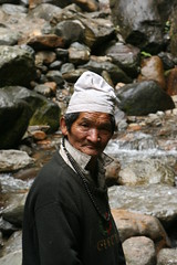 The man who help cross the waterfall (Bhargab) Tags: portrait canon2470mmf28l canon400d westsikkim