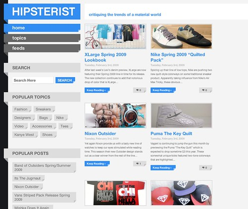 Hipsterist web page