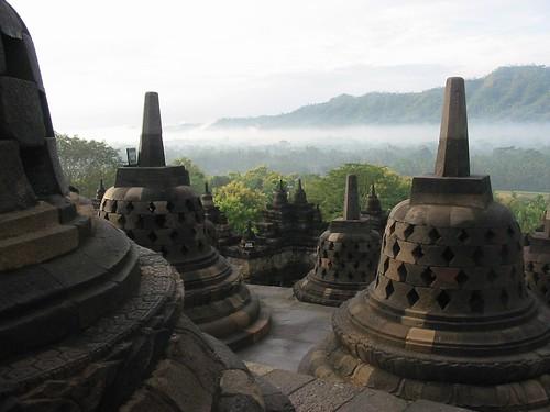Zicht van boven op Borobudur