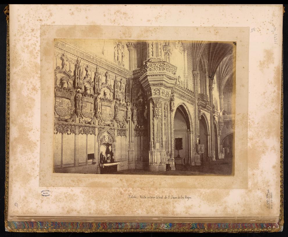 Monasterio de San Juan de los Reyes de Toledo en el siglo XIX. Foto Jean Laurent. Biblioteca Nacional de Brasil