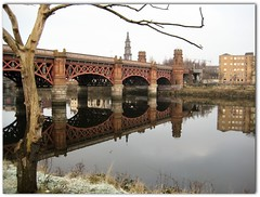 St. Enoch railway bridge (mcgin's dad) Tags: reflections riverclyde glasgow picnik supershot canondigitalixus70 mirrorser stenochrailwaybridge