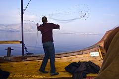 Casting Nets (Mwesigwa) Tags: fish net canon israel boat fishing ministry jesus galilee christian replica demonstration cast bible christianity float casting demonstrate seaofgalilee capernaum 40d bethsaida