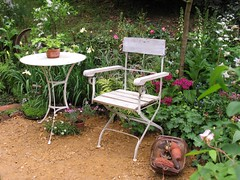 Antique garden furniture